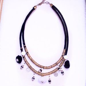 Jewelry - Tribal Desert Glam Layered Coil and Charm Necklace